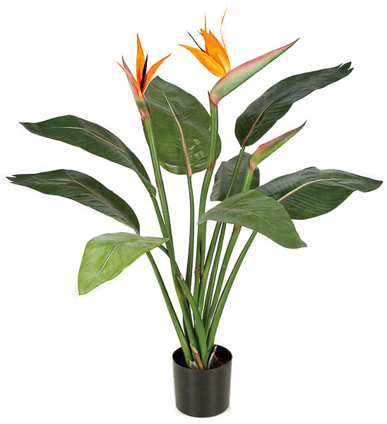 Silk Artificial Bird Of Paradise Palm Tree Product Number P 2460